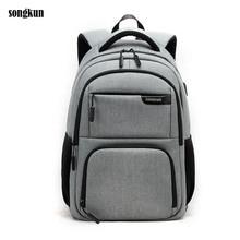 2017 Songkun Laptop Rucksack Männer Frauen Bolsa Mochila für 15,6 Zoll Notebook Computer Rucksack Schultasche Rucksack für Jugendliche