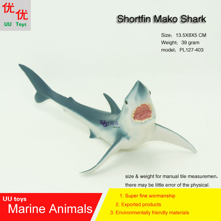 Hot toys Shortfin Mako Shark Simulation model Marine Animals Sea Animal kids gift educational props (Rhincodon typus) easyway sea life gray shark great white shark simulation animal model action figures toys educational collection gift for kids