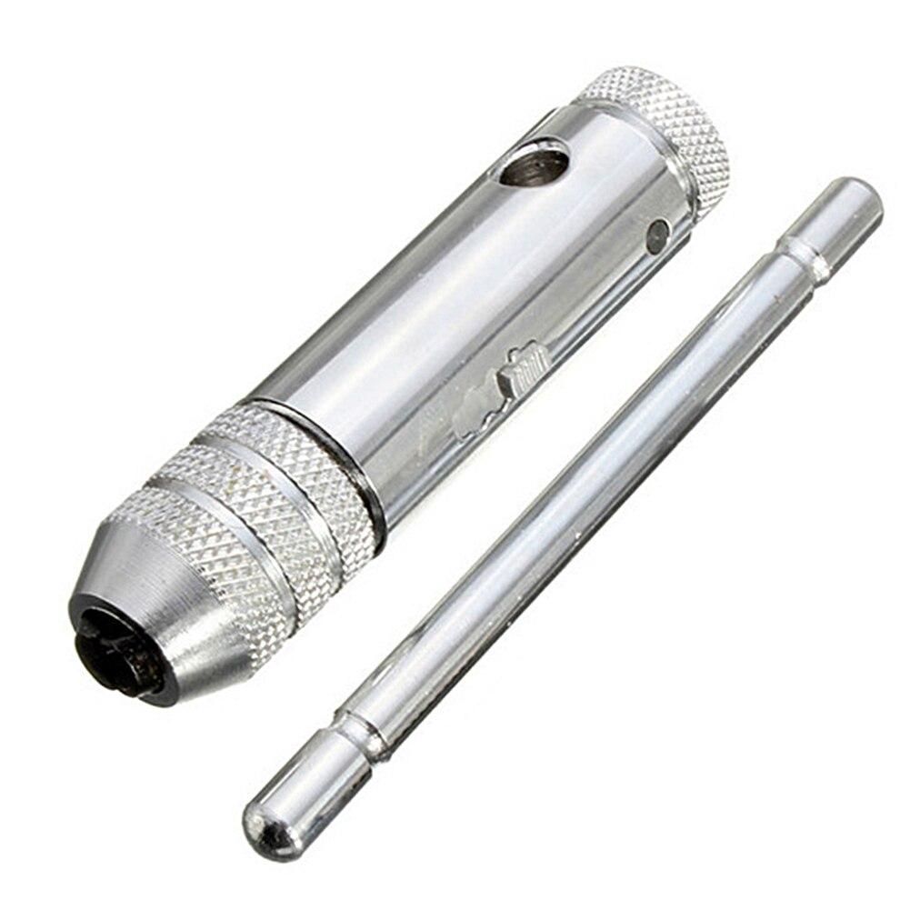 1 шт. регулируемый 3-8 мм Т-образная ручка трещотка Ключ с M3-M8 машина винт Резьба Метрическая вилка кран машинист инструмент