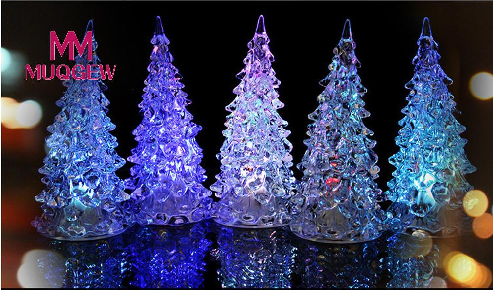 MUQGEW Brand Light-Up Toys Christmas Tree multicolour Changing LED Light Lamp Party Decoration Wedding Luminous Toy For Children