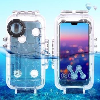 Купить Underwater 40M Waterproof Anti-knock Dirt-resistant Case Housing for Huawei P20 P20 pro Smartphones Covers for Diving Surfing на Алиэкспресс