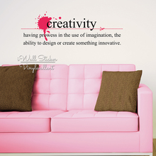 Creativity Quote Wall Sticker Inspirational Quotes Decal Office Lettering Easy Art Cut Vinyl Q207