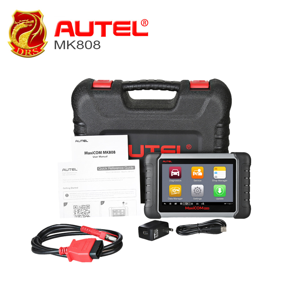 7 inch Autel MaxiCOM MK808 Automotive Diagnostic Tool All System Car Scanner with IMMO/EPB/SAS/BMS/TPMS/DPF Services Code Reader