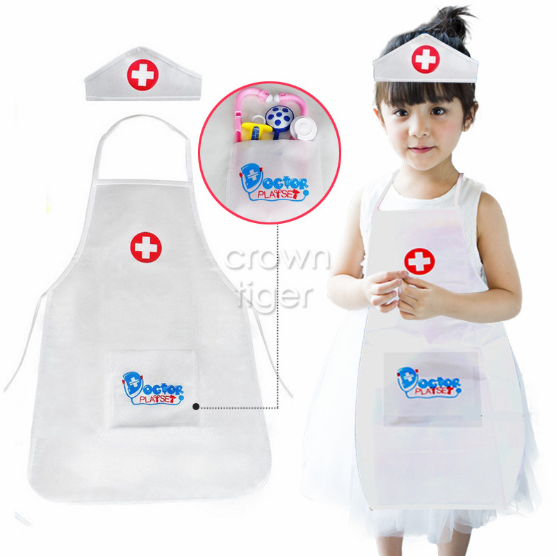 2019 Pretend Play Doctor Clothing hat Toys for Children kids girls Role Play Nurse Doctor Set fun Toys For Girl Gift job cosplay