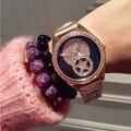Wristwatches Quartz-Watches High-Grade Women's Watches  Stainless Steel Strap Fan Modeng Big Diamond Rose Gold