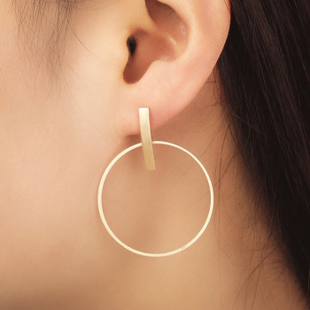 Round Circle Dangle Earrings for Women