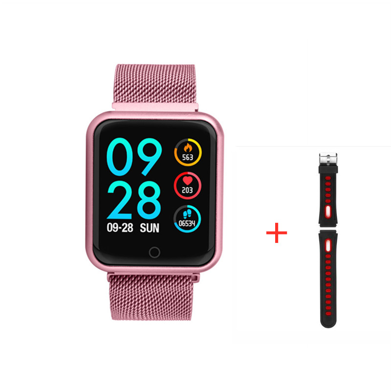 P68 Smart watch IP67 Waterproof Fitness Tracker Heart Rate Monitor Blood Pressure Women men Clock Smartwatch For Android IOS 5