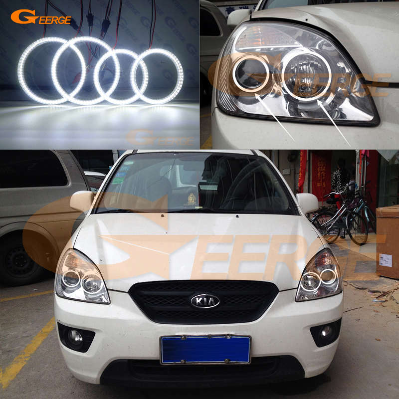 For KIA Carens 2006 2007 2008 2009 2010 2011 2012 Excellent Ultra bright illumination smd led Angel Eyes kit DRL for honda cr v crv 2007 2008 2009 2010 2011 projector headlights excellent ultra bright smd led angel eyes halo ring kit