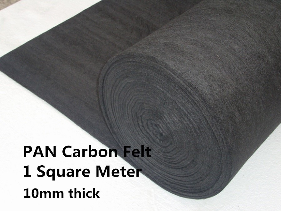 цены Carbon Graphite Felt PAN-Based PANCF1010001000,  heat insulation felt in vaccum furnace