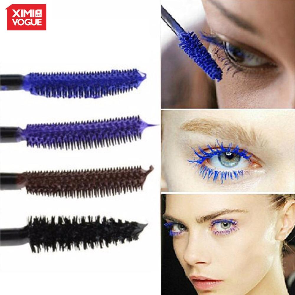 Fashion Colorful Mascara Rimel Black Blue Purple Brown Eyelashes 3D Fiber Waterproof Makeup Lengthening Thick Cilia Mascara MDMZ
