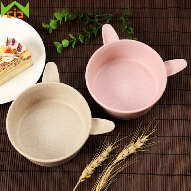 WCIC Children Baby Tableware Set Solid Feeding Rabbit Dishes Baby Bowl Plate Food Feeding Dinnerware Kits & WCIC Children Baby Tableware Set Solid Feeding Rabbit Dishes Baby ...