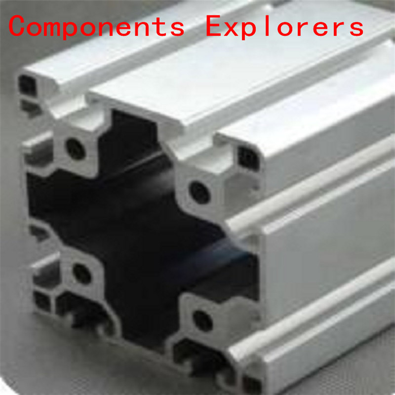 Arbitrary Cutting 1000mm 8080 Aluminum Extrusion Profile,Silvery Color.