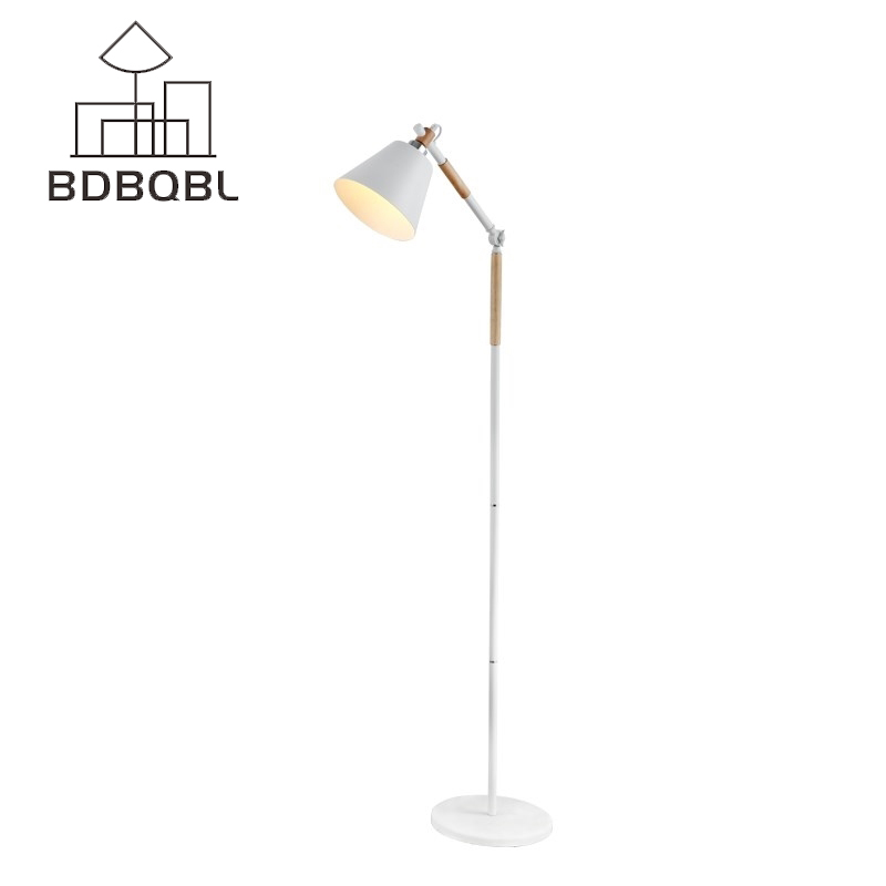 BDBQBL Modern Art Floor Lamp Nordic Wood Standing Light for Living Room Bedroom Hotel Luminaria De Mesa E27 Lamparas White novelty night light baymax big hero 3w luminaria white green red color lava lamp for children bedroom decorate luminaria de mesa