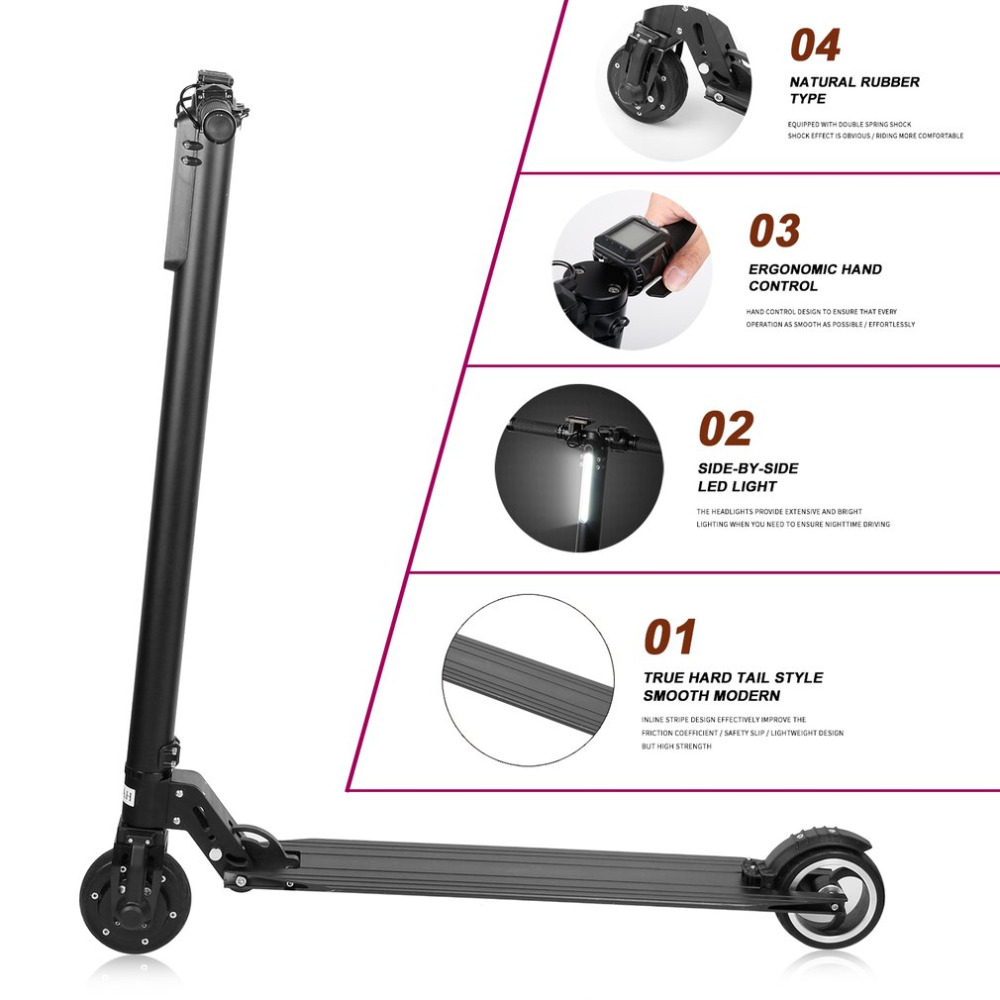 Electric Kick Scooter Foldable Aluminium Alloy Electric Scooter For Adult LCD Display 2 Wheels LED Light 120kg Load Portable HOT цена и фото