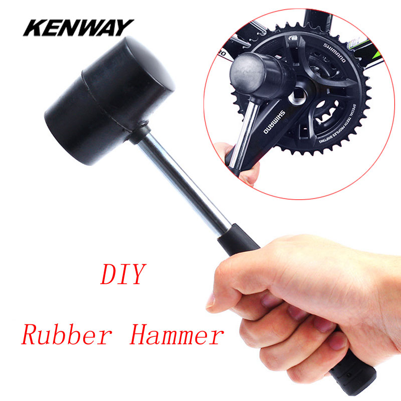 KENWAY Multifunctional Bicycle Rubber Hammer Non-Slip MTB Mountain Road Bike Headset Axis Installation Disassembly Repair Tool