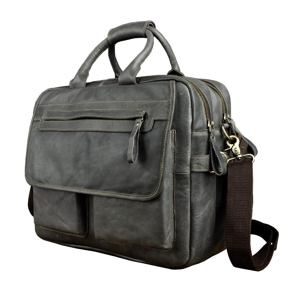 "Здесь продается  Men Real Leather Antique Style Large Capacity Briefcase Business 15.6"" Laptop Cases Attache Messenger Bags Portfolio 8951g  Камера и Сумки"