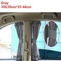 Auto Carro Janela Lateral Cortina 70*37 CM Elástico Day Night Sunshield Sun Sombra Cortina Cortinas de Cinza de Proteção UV