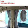 Auto Side Window Curtain 70*37CM Elastic Car Sun Shade Curtain Day Night Sunshield UV Protection Gray Curtains