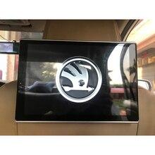 Car Accessories Android Headrest TV Monitors For Skoda Superb 3 Car Pillow Monitor 11.8 Inch Screen 4K HD Playback 2PCS lq106k1la01 10 6 inch netbook screen tv refit refit monitor support usb playback