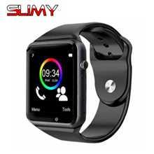Продажа Слизняк Смарт-часы A1 W8 Поддержка sim-карта TF Камера для Android IOS Телефон Для женщин Для мужчин Дети Smartwatch подарок часов часы России T50