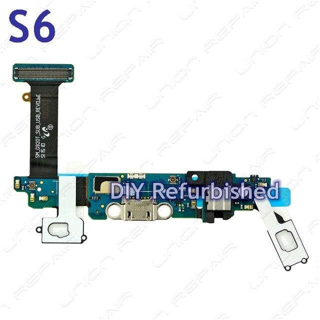 Оригинальный OEM для Samsung S6 USB Зарядки Разъем Док-Станции для Samsung S6 Зарядки Порт Flex кабель