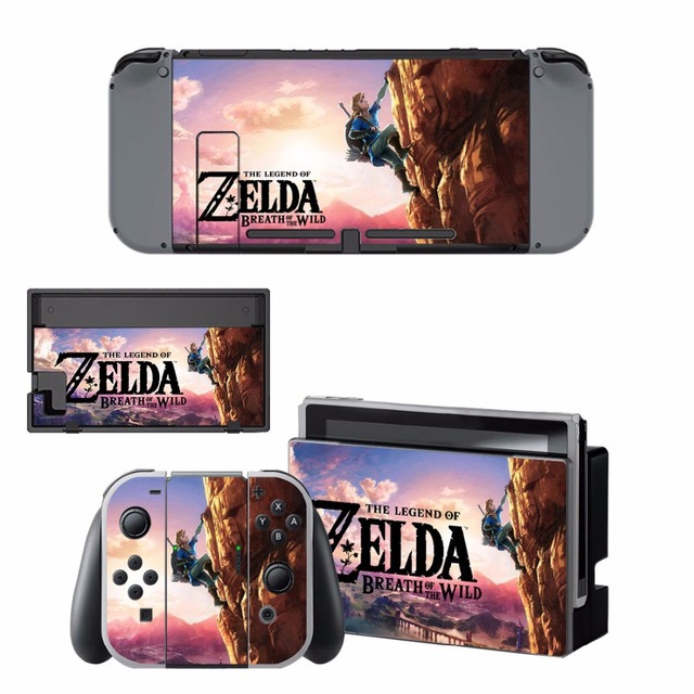 Nintend Switch Vinyl Skins Sticker For Nintendo Switch Console and Controller Skin Set - For The Legend of Zelda 1