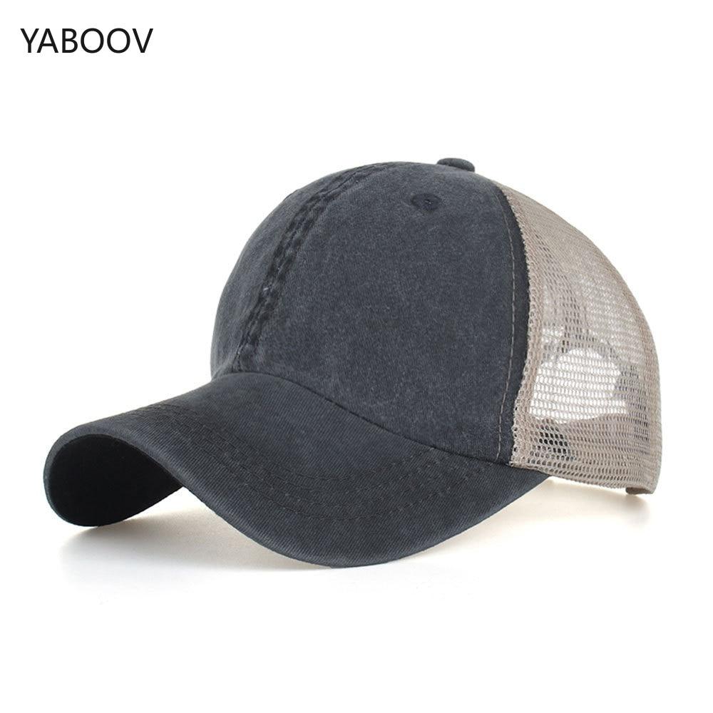 Plain Men Women Sport Sun Visor One Size Washed Twill Cotton Baseball Cap Vintage Adjustable Cap Dad Hat