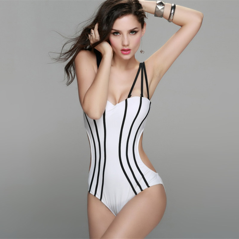 NODELAY One Piece Swimsuit Plus Size Swimwear Women 2018 Swimming Suit for Women Monokini Beach Sexy Backless Swim Wear Black black blue one piece swimsuit monokini backless sexy leotard women plus size bathing suit top quality transparent mesh swimwear