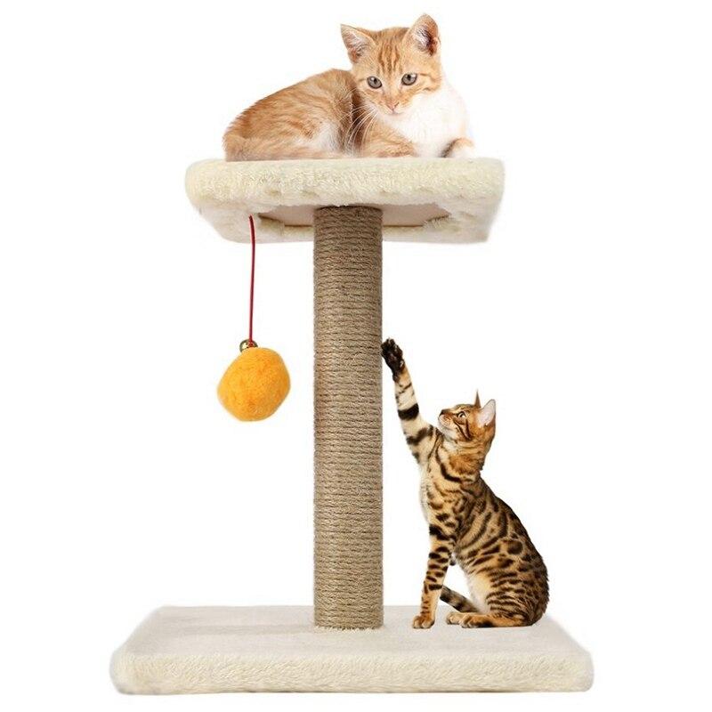 Pet Cat Tree Rope Swing Ball Scratching Post Climbing Frame Diy Assembled Interesting Cat Toys