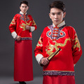 Chinese Traditional  Costume Male JACKET SHIRT MENS Clothing Costume Xiuhe Groom Toast Clothing