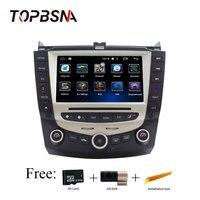 TOPBSNA Android для Honda Accord 2003 2007 Автомобильная Мультимедийная gps навигации Аудио Радио Зеркало Ссылка USB WI FI DVR 3G Wi Fi головное устройство