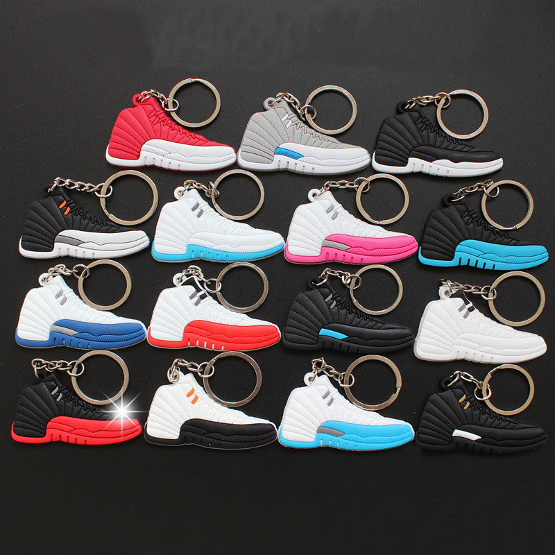 15Pcs Jordan 12 Model Sneaker Keychain Key Chain Key Ring Key Holder For  Adult Gifts Porte Clef Chaveiro Anillos Cordao AJ 12-in Action   Toy  Figures from ... 5c6d72540