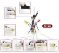 Adaptateur de harnais de fil d'unité de tête de voiture connecteur d'alimentation de Radio stéréo de voiture pour le harnais d'autoradio de Toyota