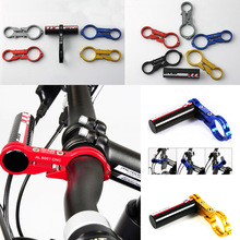 Lightweight Aluminum Alloy 6061 + Carbon Fiber Bike Bicycle Handlebar Extender Mount Bicycle Light Bracket Red Cycling Parts