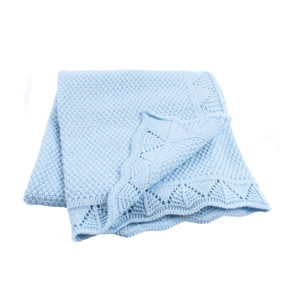 Newborn Baby Blanket Knitted Toddler Infant Bedding Covers Summer Thin Babies Boys Girls Swaddle Wrap Blankets Children's Quilts