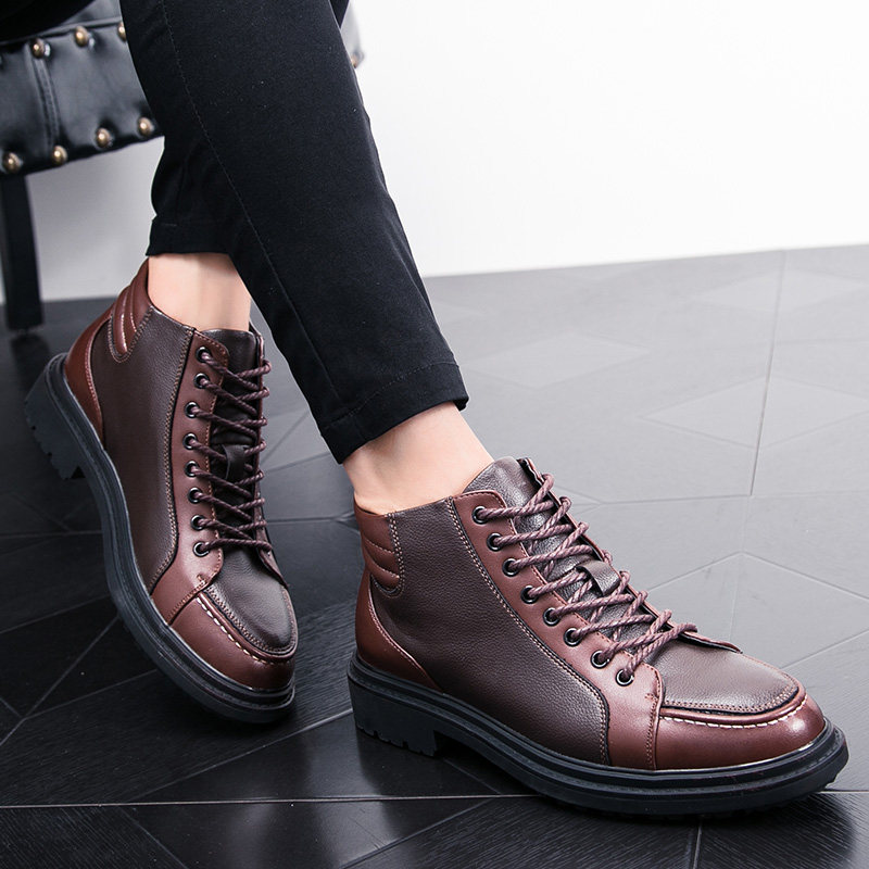 italian cool unique men motorcycle boots shoes luxury brand men's leather high top dress moccasins designer oxford shoes for men (22)