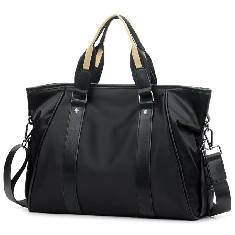 Korean Style Men's Nylon Briefcase Handbag Fashion Business Large Bag Casual Crossbody Bag For Men Laptop Shoulder Bags XA218ZC