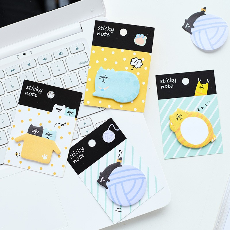 4 pcs/lot Cute cat animal memo pad paper stickys notes post notepad kawaii stationery papeleria school supplies kids gifts 8 pack lot cat paper bookmark ice cream paper page holder memo card stationery office school supplies separador de libros 7033 page 6