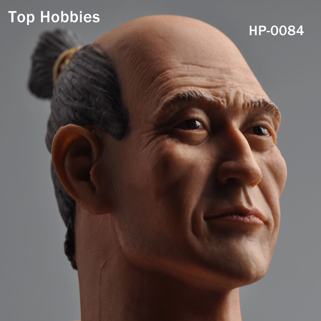 """1/6 Male Head Sculpt HP-0084 Japanese samurai Male Carving Model Fit 12"""" Phicen HT Toys Action Figure Doll Body Toys HP-0084"""