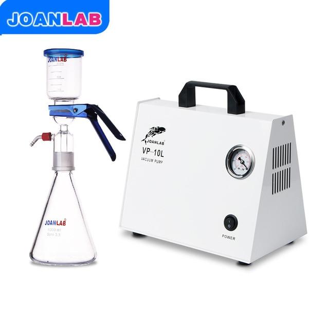 JOANLAB 1000ml Vacuum Filtration Apparatus+Oil free Diaphragm Vacuum Pressure Pump LAB Solvent Filtration Apparatus