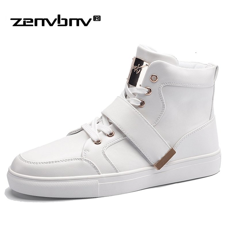 ZENVBNV Brand New Spring Men Sneakers Fashion Boots Shoes High Quality Casual Shoes For Man Metal Decoration Design Ankle Boots 2017 spring brand new fashion pu stretch fabric men casual shoes high quality men casual shoes lace up casual shoes men 1709