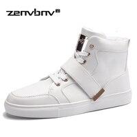 ZENVBNV Brand New Spring Uomini Sneakers Fashion Stivali Scarpe di Alta Qualità Scarpe Casual Per Uomo Decorazione In Metallo Stivali Disegno Della Caviglia