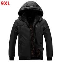 Extra large men's jacket thick big man thick coat winter oversized hat datachable jacket 6XL 7XL 9XL 8XL black plus size Parkas