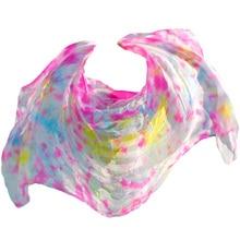 100% silk high quality belly dance veils unisex veil wholesale tie dyeing Multiple colors props