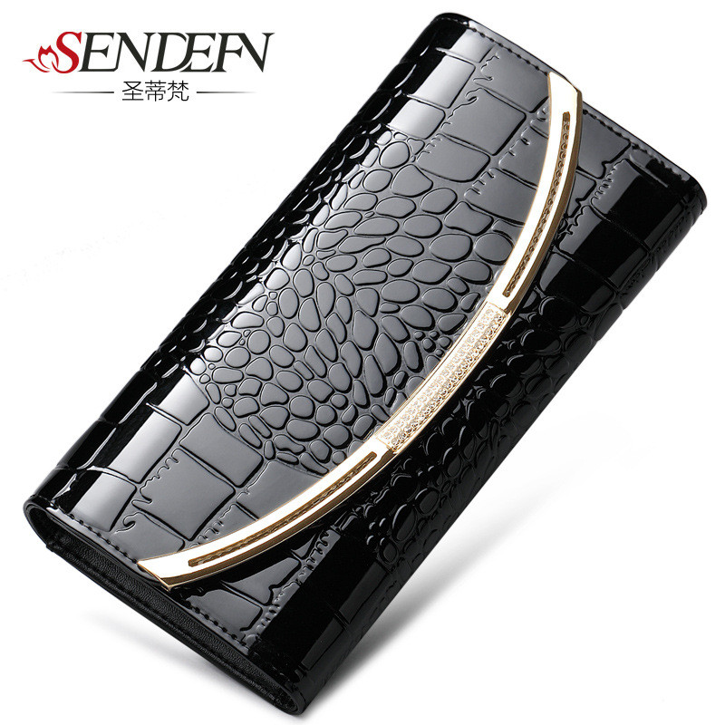 Sendefn of women in the form of   fashion and long genuine leather wallets purse , designer brand long Purse Clutch lady party c chip for lexmark microfiche printer chip for lexmark x736 de chip high yield refill toner chips free shipping