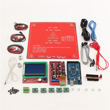 3D Printer Kit Ramps 1.4 +12864 LCD + MK2B Heatbed + Controller Reprap for Prusa i3 Integrated Circuits Modules Boards