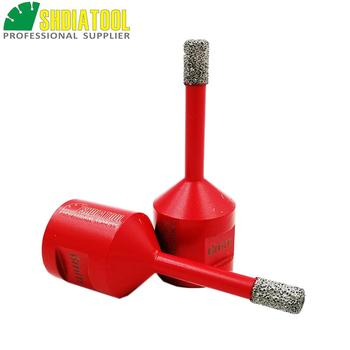 цена на SHDIATOOL 2pcs M14 Diameter 8mm Vacuum Brazed Diamond Drilling Core Bits Dry Drilling Bits Diamond Drill Bit Hole Saw
