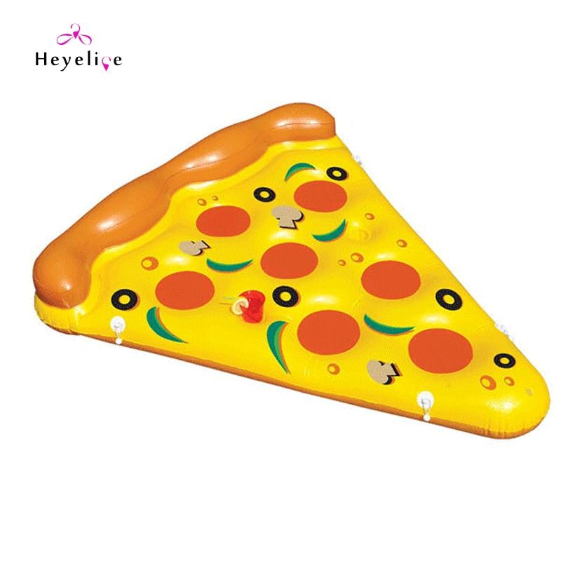 Anneaux de natation gonflables pour adultes 180X155 CM grands anneaux de piscine forme de Pizza flotteur de piscine gonflable Hotsale jouets de piscine de vacances anneau de bain