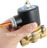 Free Shipping 5PCS/Lot Water Air Gas Fuel NC Solenoid Valve 3/8 BSPP 12V DC 2W160-10 DC24V,AC110V or AC220V 5pcs lot 5 0l pvf gas sampling bag with ptfe valve for corrosive gas or vocs sampling
