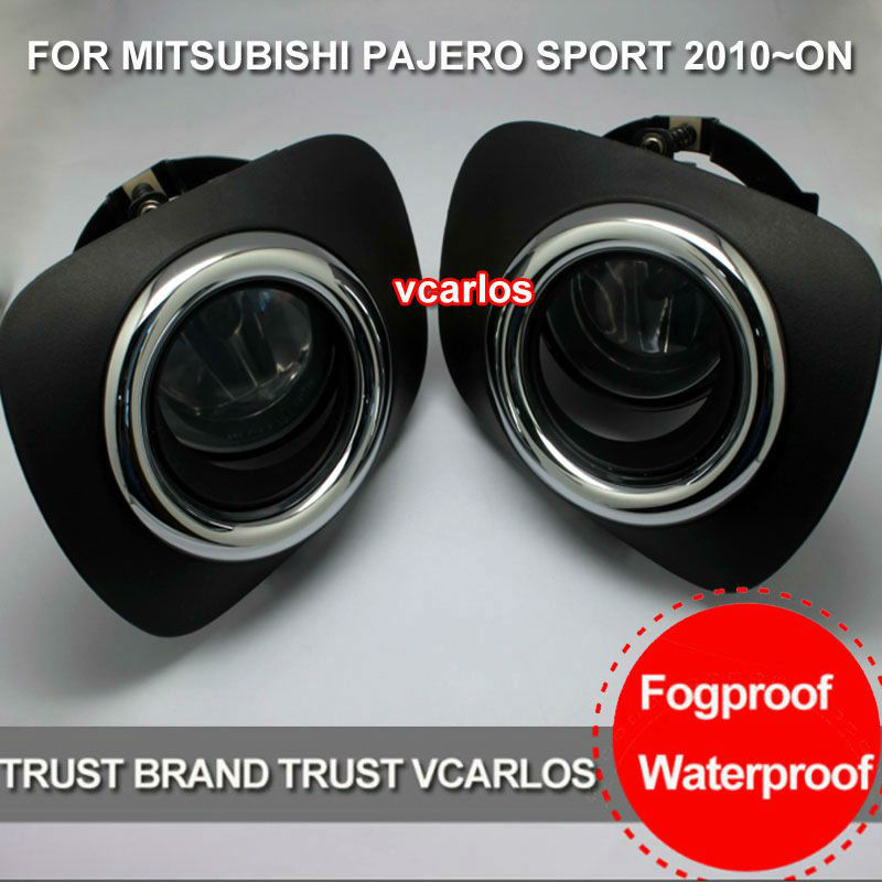 Vcarlos halogen fog lamp for MITSUBISHI PAJERO sport 2010-now with switch free shipping 2pcs lot h11h8h1h79006 fog light bulb for mitsubishi pajero pinin 00 05 pajero sport 98 06 space wagon 99 04